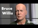 Bruce Willis timelapse, made with Blender