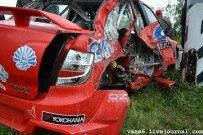 02 октября 2011 - Тольятти: Кубок LADA Granta 2011. Разбитые авто Чабана и Николаева