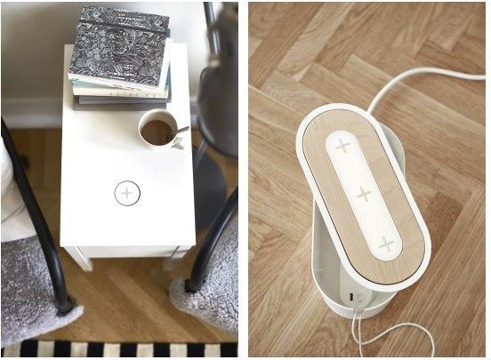 Мебель ИКЕА с беспроводной зарядкой для смартфонов