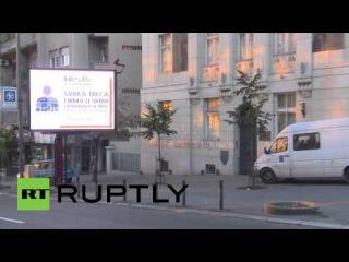 В Белграде вандалы исписали стены гомофобными надписями