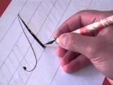 Hamid Ezra Ebrahimi: How To Write Copperplate - Letter Aa
