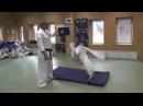 Do Mawashi Kaiten Geri - отработка удара в прыжке с переворотом