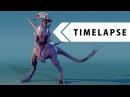Creature Creation Modeling Sculpting Texturing Rigging BLENDER TIMELAPSE