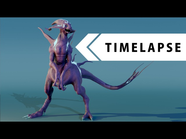 Creature Creation - Modeling, Sculpting, Texturing, Rigging (BLENDER TIMELAPSE)