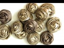 Rolled Ribbon Rose Tutorial - DIY