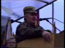 General Ratko Mladic during a military parade in Vlasenica, 1995.