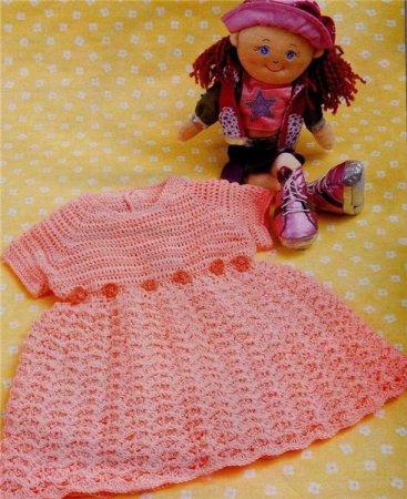 Платье на девочку крючком (3 фото) - картинка