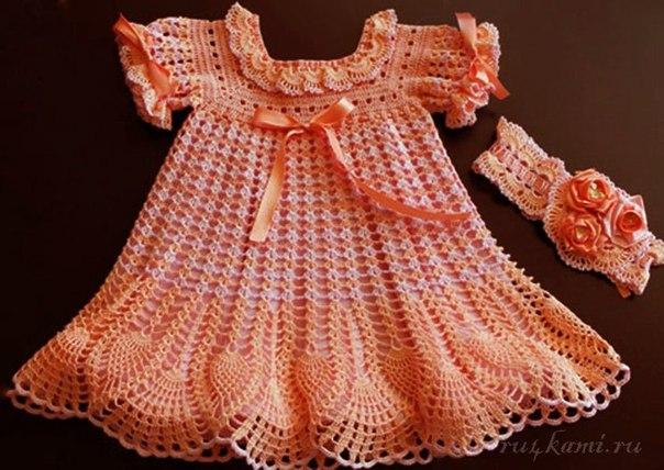 Платье для девочки крючком (8 фото) - картинка