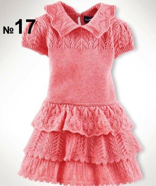 Платье для девочки. подборка схем (6 фото) - картинка
