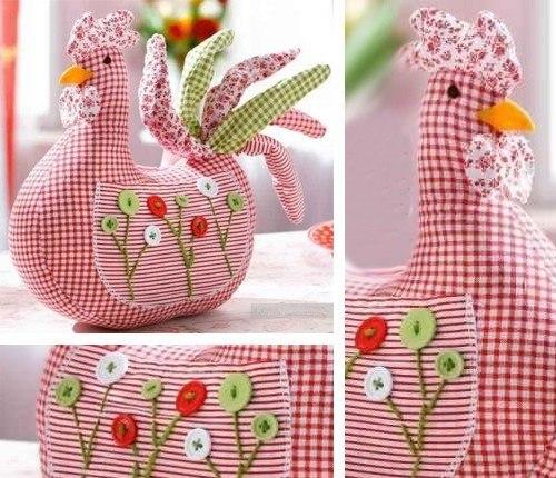 Materiales gráficos Gaby: Cojín gallina para decorar la cocina ...