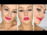Rockstar Eyeliner w Hot Pink Lips Tutorial Lauren Curtis