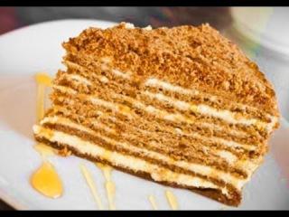 Рецепт Медовый торт. Вкусный Медовый торт домашний рецепт