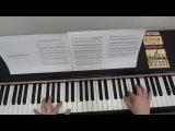 Ян Тьерсен Амели. Видеоурок для фортепиано Часть 2.