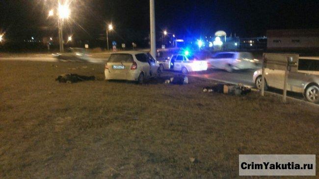 Подробности ночного ДТП в Якутске с несколькими пострадавшими