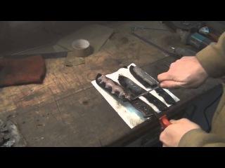 Как сделать нож с линией хамон