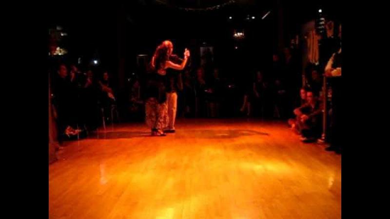 Horacio Godoy and Cecilia Berra dancing Sirtaki - Tango at El Bandoneon, Athens