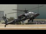 AH-64HA Apache  Takeoff, Airshow Display, Wheelie, Landing  Hellenic Army-AFW2013