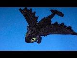 Модульное оригами дракон Ночная фурия (Беззубик) схема сборки