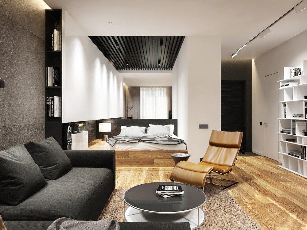 Проект квартиры 36 м для холостяка.