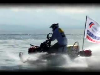 RX-1 MTX water На снегоходе по воде через Байкал (рекорд)