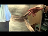 How to tie a sash on your  wedding dress
