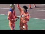 130903 EXO SUHO 아육대 팬들이랑 장난치는 준면이