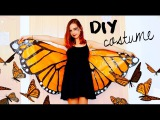 DIY Halloween costume! Monarch butterfly  Under 3$ with garbage bags!