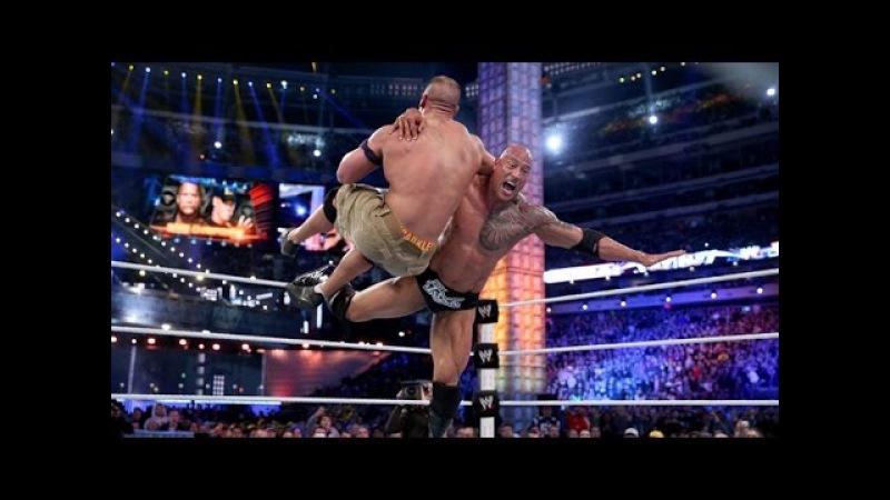 WWE Wrestlemania 29 John Cena vs The Rock Full Match HD