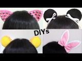 4 Easy Halloween DIYs Studded Cat Ears, Bear Ears, Bunny Ears, Panda Ears Headbands