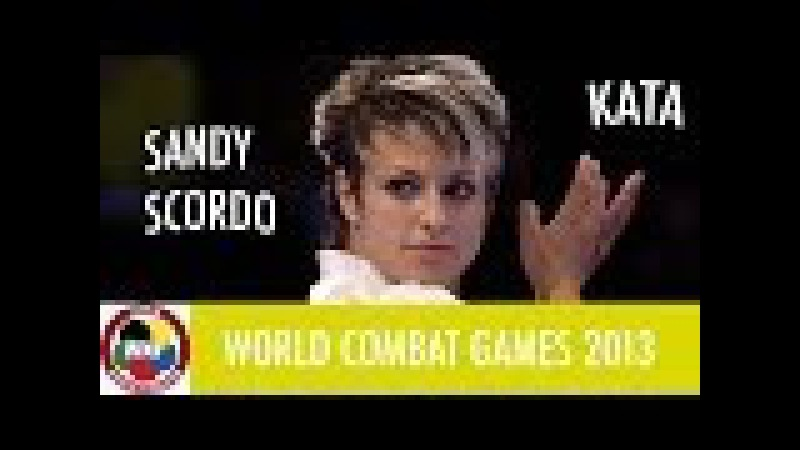 Karate Women's Kata. Sandy SCORDO of France. Finals Gold Medal Fight