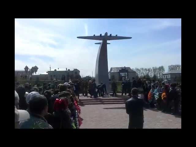 Открытие памятника самолету Пе-8 в Больших Кайбицах