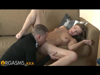 ORGASMS Gorgeous slim blonde enjoys hot oral and anal