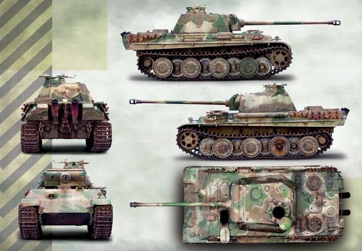 Покраска танка Panther .