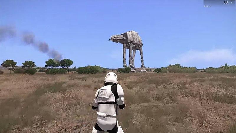 Шагоходы из Звездных Войн в Arma 3