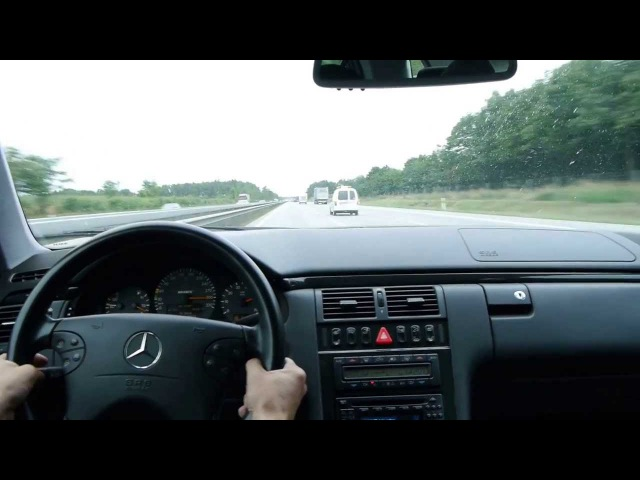 Mercedes W 210 BRABUS 5.8 , 4matic - Autobahn A 1 - 310 km/h