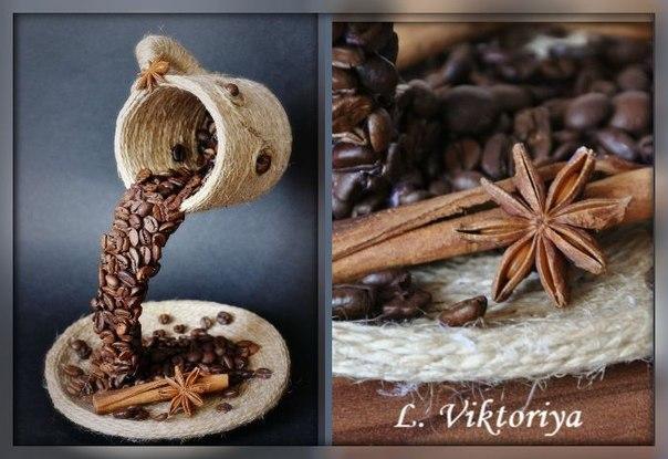 Подарки ручной работы от L. Viktoriya  Разнообразие направлений! Одно из них — работы из кофейных зерен!