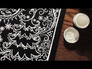Быстрое Рисование | Морозные Узоры На Окне | Гуашь