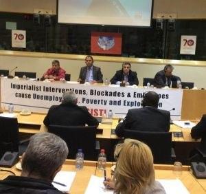 Представитель ЛНР с европейской трибуны призвал снять санкции, введенные США и ЕС против РФ