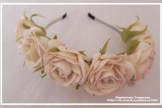 Как сделать ободок с цветами из фоамирана своими руками