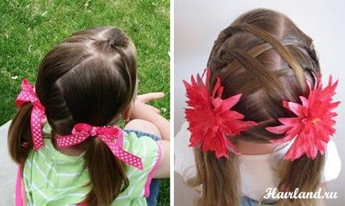 Прикольные причёски для девочек на день рождения