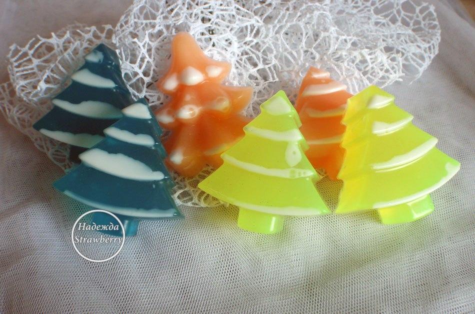 Новогоднее мыло можно заказать разного цвета.