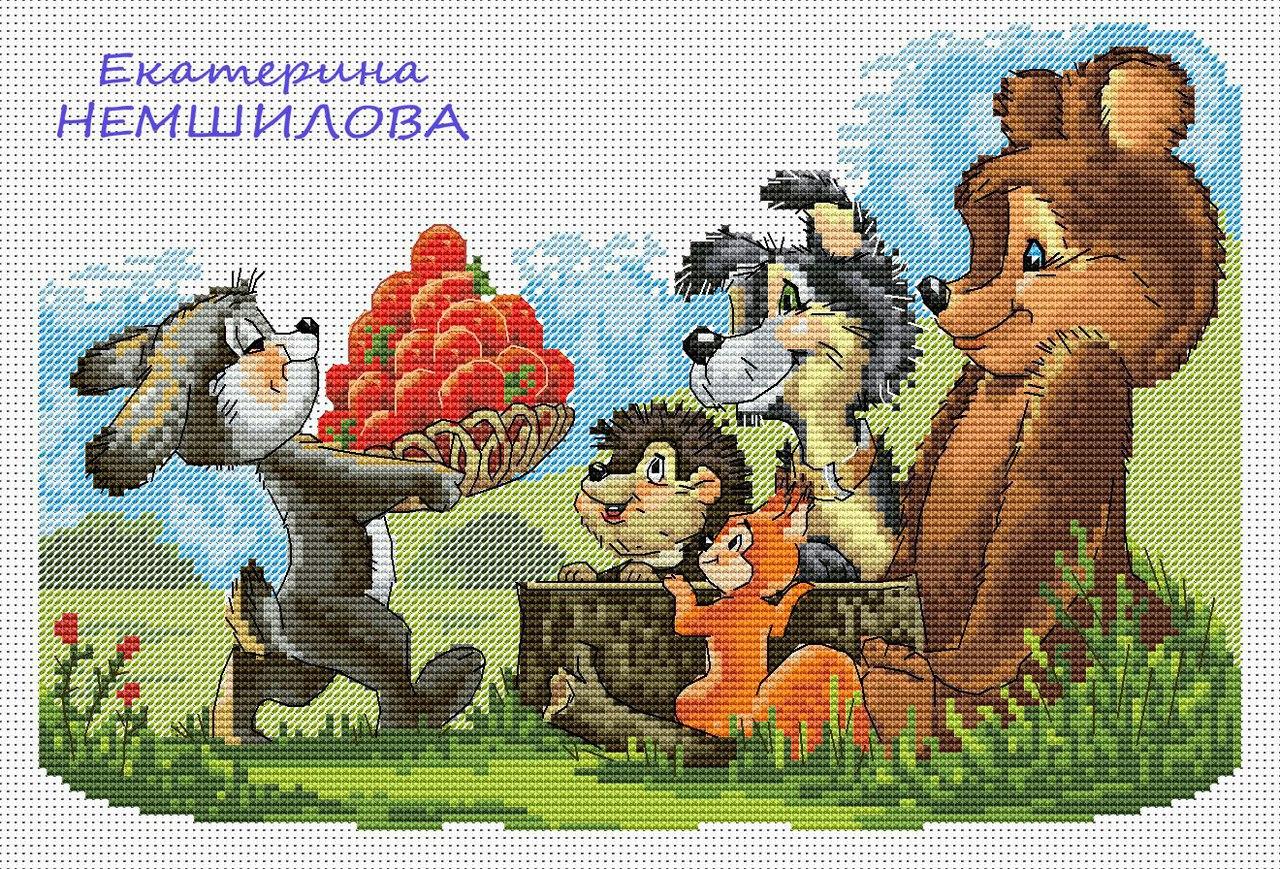 Схема вышивки по советским открыткам, днем рождением