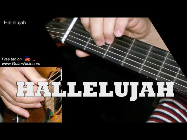 HALLELUJAH by Leonard Cohen Fingerstyle Guitar TAB by GuitarNick