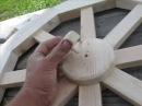 Изготовление люстры-колесо телеги