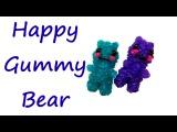 Мармеладный мишка из резинок Happy Gummy Bear Tutorial by feelinspiffy (Rainbow Loom)