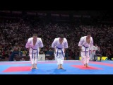 (22) Karate Japan vs Italy. Final Male Team Kata. WKF World Karate Championships 2012