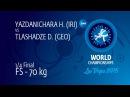 1/4 FS - 70 kg: H. YAZDANICHARA (IRI) df. D. TLASHADZE (GEO) by FALL, 6-0