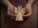 Ангел из бумаги оригами  Angel of paper Origami