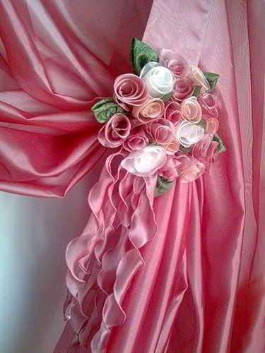 Цветы для штор-своими руками
