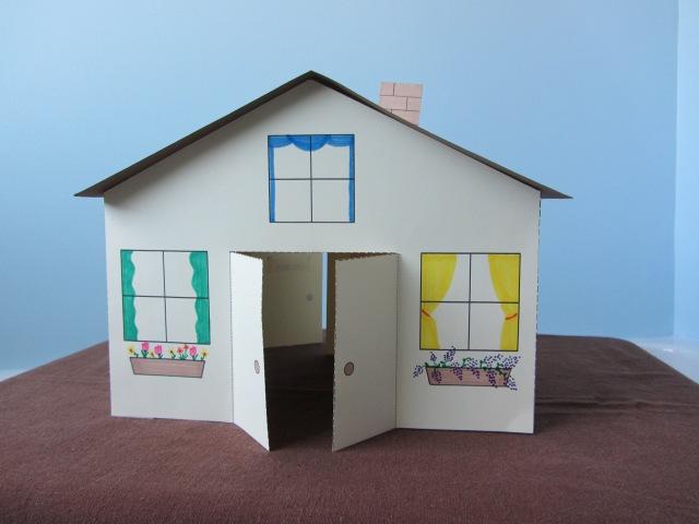 3D Paper House Children's Craft